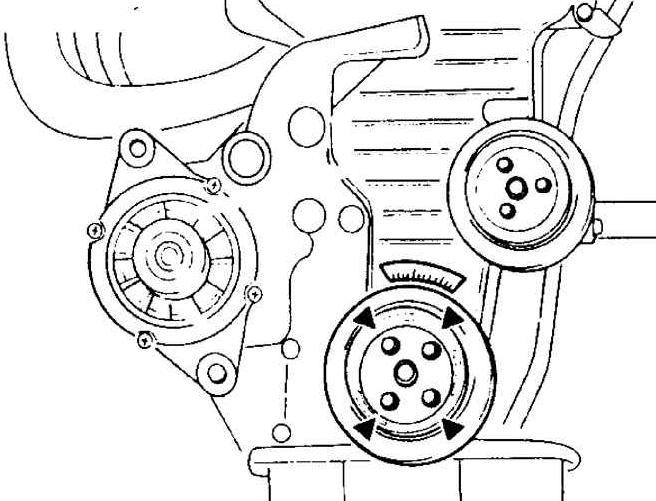 сколько ремней в двигателе киа спектра