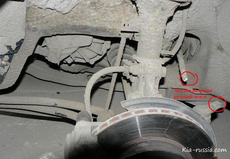 Киа рио 2 ремонт рулевой рейки своими руками
