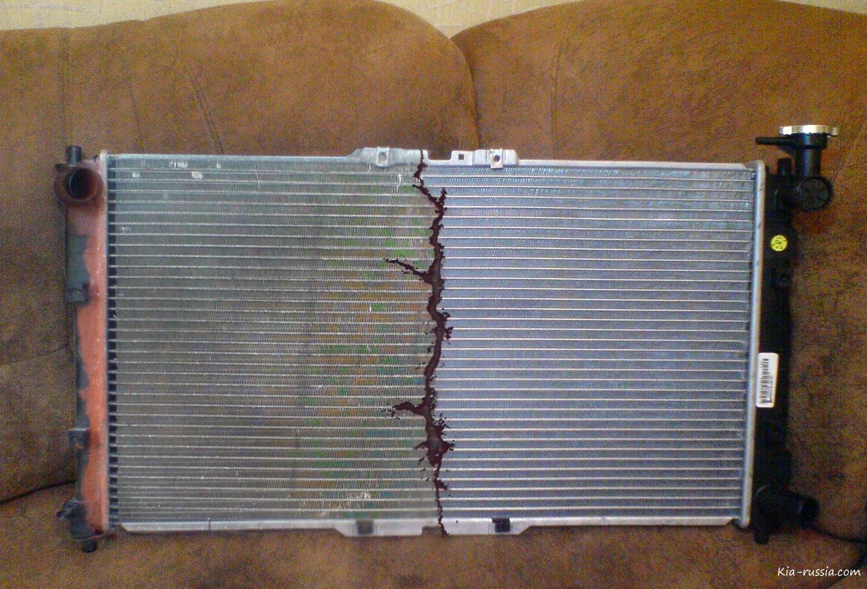 как снять радиатор отопителя киа спектра