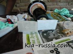 Замена фильтра тонкой очистки Киа Рио