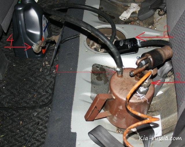 промывка инжектора киа рио 2012
