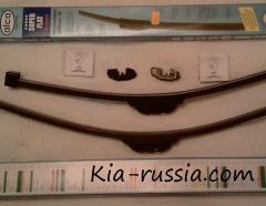 Замена стеклоочистителей на  Kia Ceed sw FL 2010