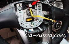 Установка кнопок на руль Киа Рио